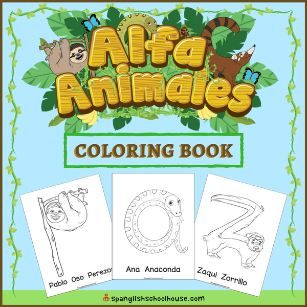 Spanish Alphabet Coloring Book