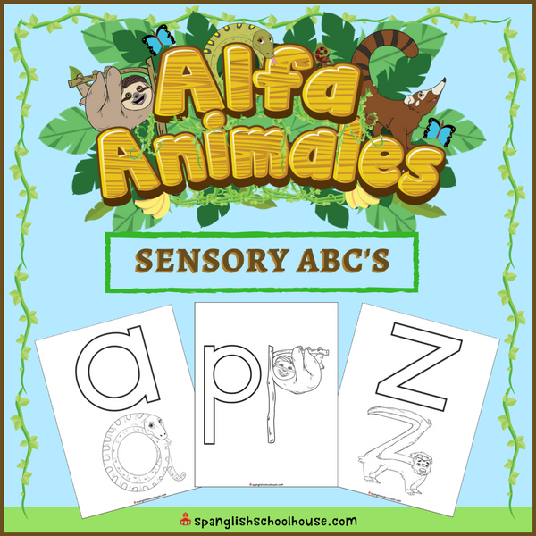 Kinesthetic learners will love learning the Spanish Alphabet with this animal-themed DIY Sensory Alphabet Book!