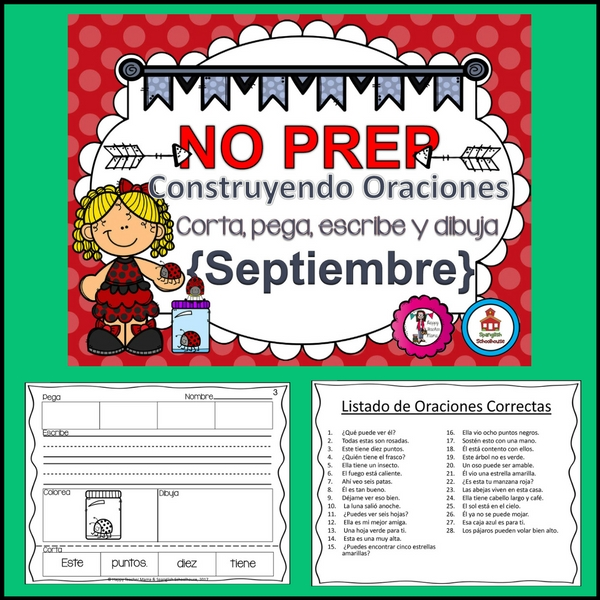 Spanish sentence building for September