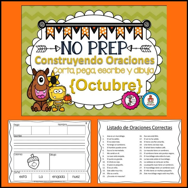 Spanish Sentence Building Fall