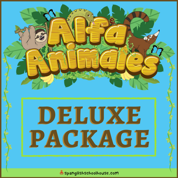 Alfa Animales Deluxe Package is everything you need to equip your Spanish classroom!