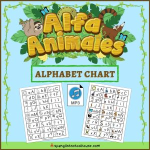 Spanish Animal Alphabet Chart is perfect for helping children learn to write the Spanish alphabet!