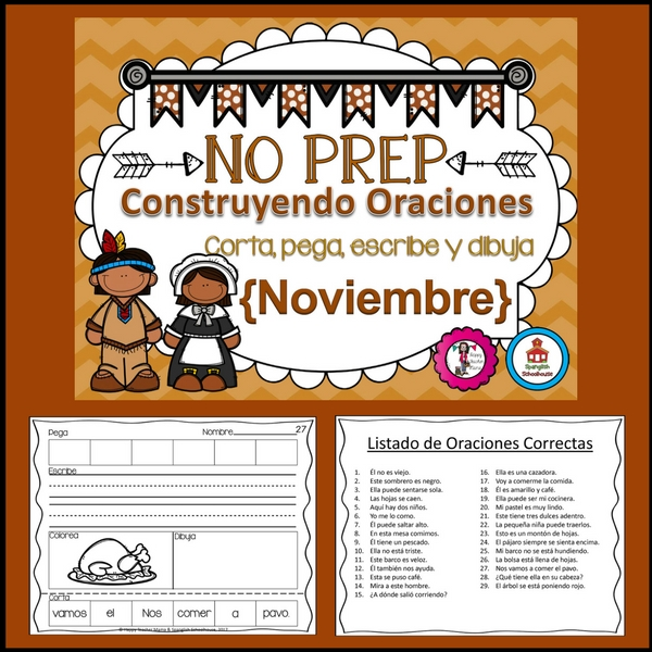 Spanish Building Sentences November