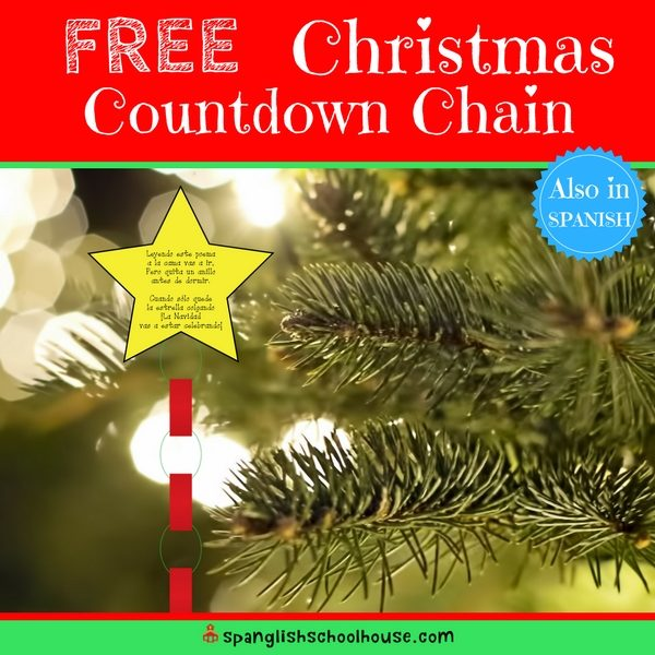 A super simple Christmas Countdown Chain in Spanish