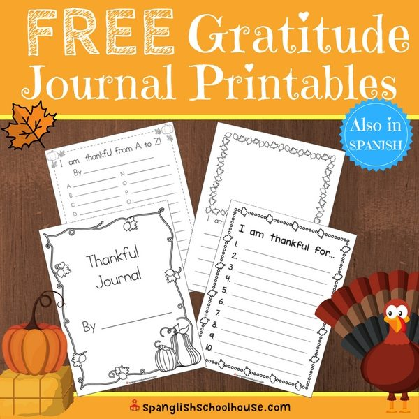 Free Thankful Journal Printables