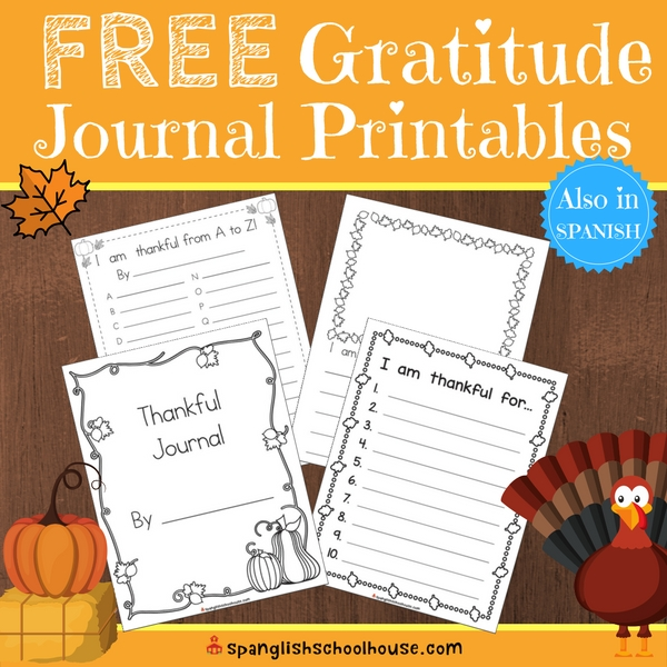 FREE Gratitude Journal Printables for Children