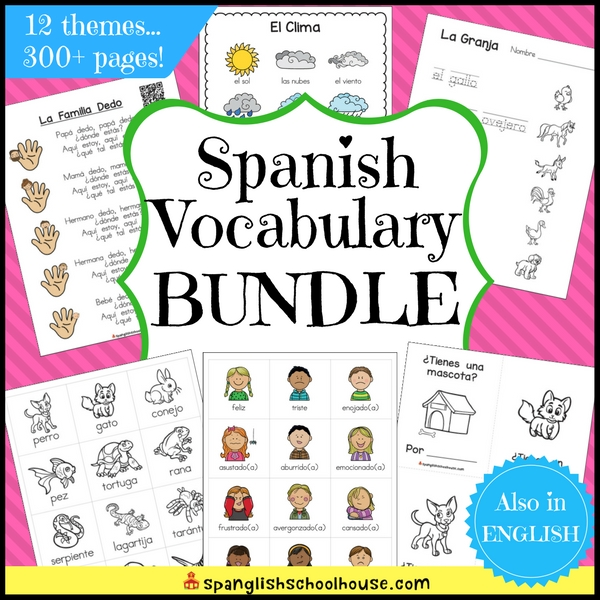 Spanish Preschool Vocabulary Bundle is a hand-picked collection of Spanish vocabulary resources just for Preschool children