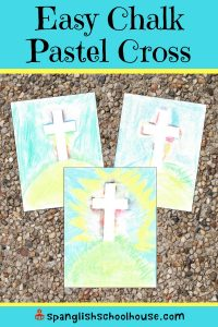 Looking for a low-prep Resurrection Art project? These chalk pastel crosses are simple enough that even preschoolers can make them beautifully.