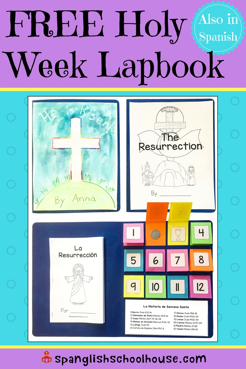 Awesome pack of resurrection printables has everything you need to create a lapbook in Spanish or English