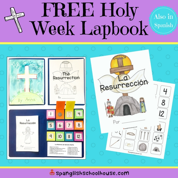 Free Holy Week Lapbook in Spanish