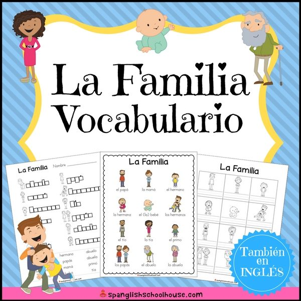 La Familia Pack has everything you need to teach family vocabulary in Spanish!