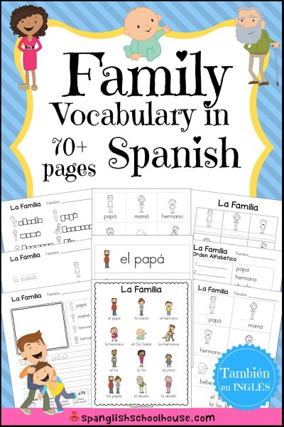 Perfect way to learn about family vocabulary in Spanish