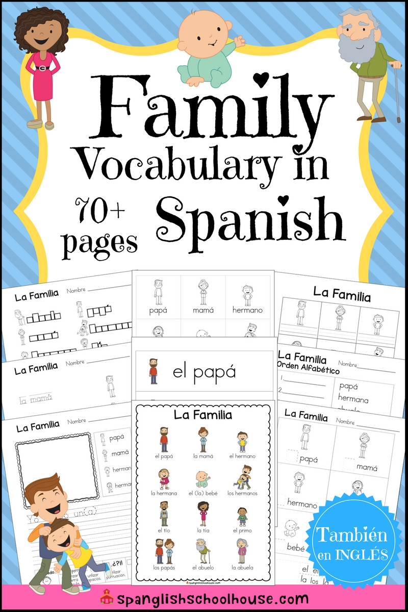 La Familia: Family Vocabulary in Spanish
