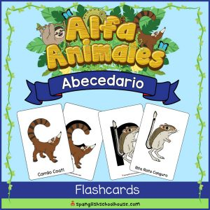 Alfa Animales Abecedario Flashcards