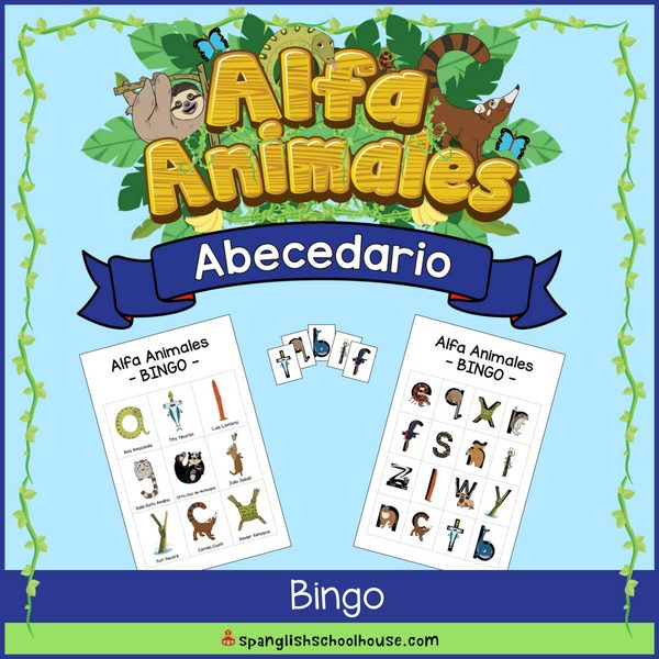 Alfa Animales Abecedario Bingo Game is a great way to practice the Spanish alphabet!
