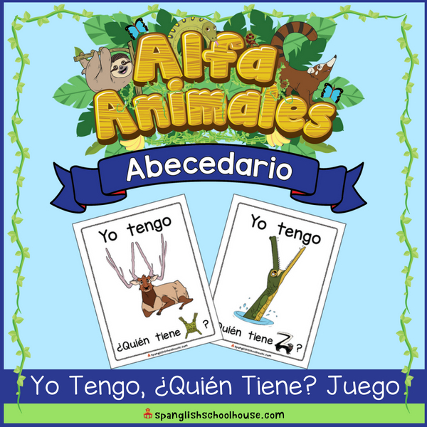 Alfa Animales Abecedario I Have, Who Has? Game in Spanish is perfect for practicing Spanish letters and oral language