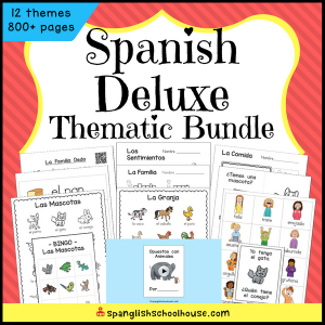 Spanish Deluxe Thematic Vocabulary Bundle