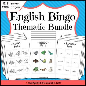 English Bingo Thematic Bundle
