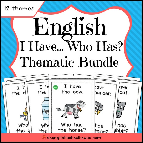 English I Have Who Has Thematic Bundle
