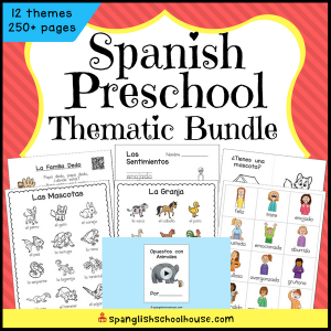 Spanish Preschool Vocabulary Thematic Bundle