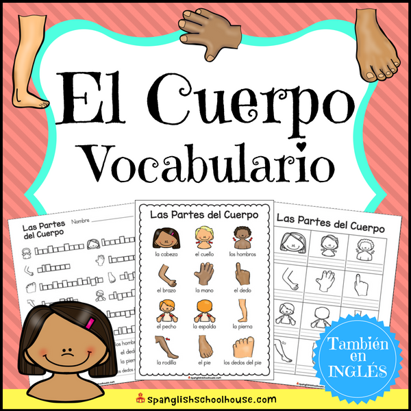 Spanish body parts vocabulary - El Cuerpo vocabulario
