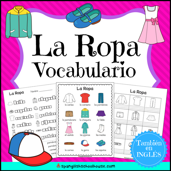 Spanish clothes vocabulary - La ropa vocabulario