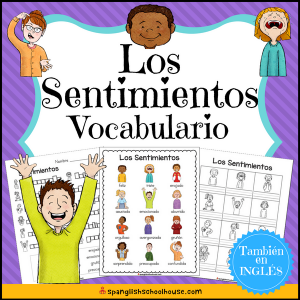 Los Sentimientos Vocabulario - Spanish Feelings Vocabulary