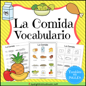 La Comida Vocabulario - Food Vocabulary in Spanish