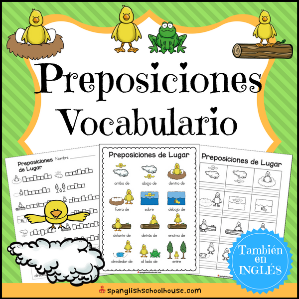 Spanish Positional Words - Preposiciones