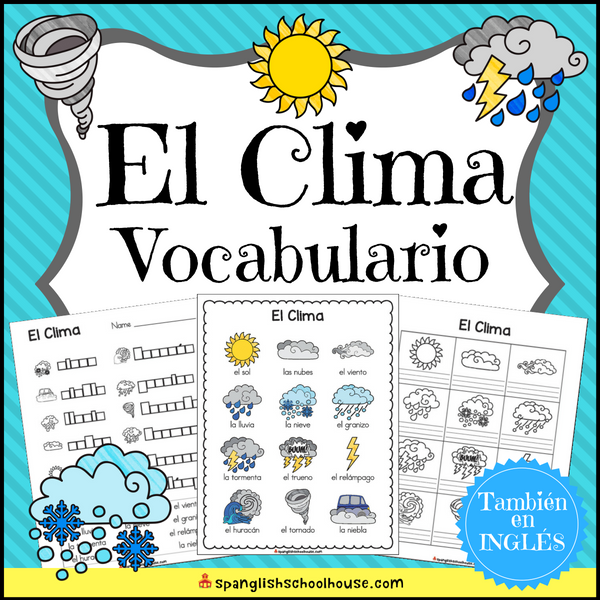 Spanish weather vocabulary - El clima vocabulario