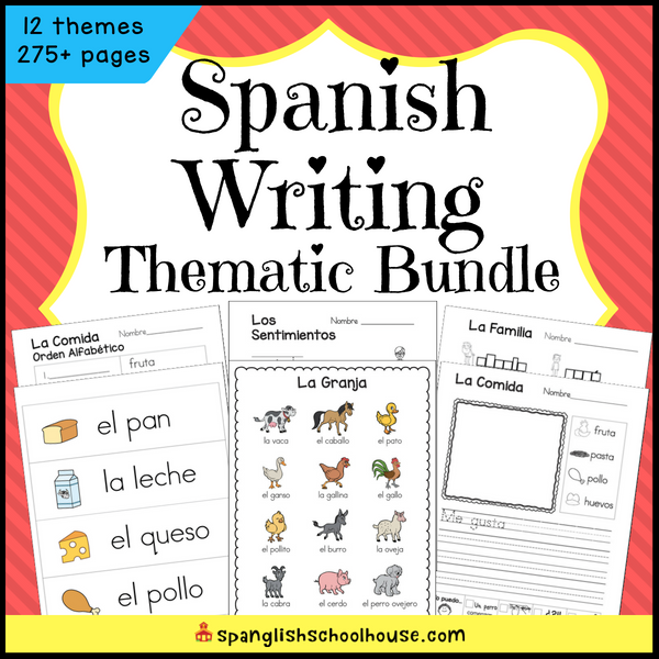 Spanish Writing Thematic Bundle