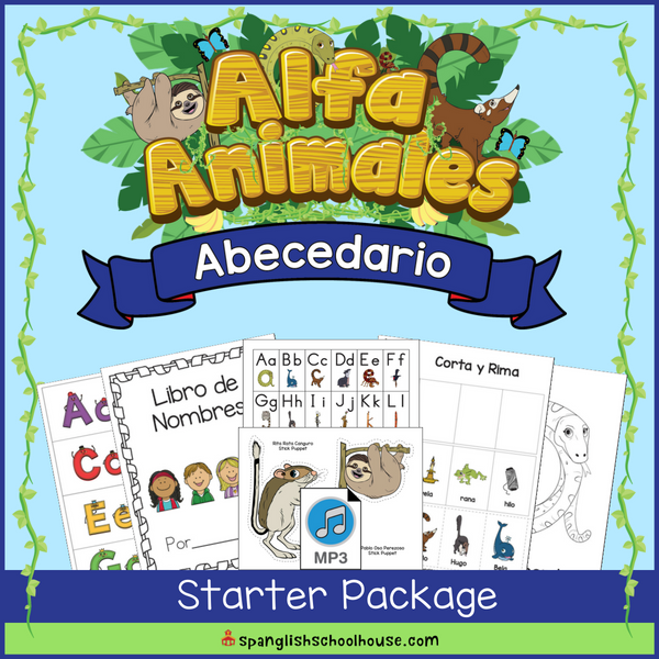 Alfa Animales Abecedario Starter Package is a 6 week intensive in the Spanish Alphabet.