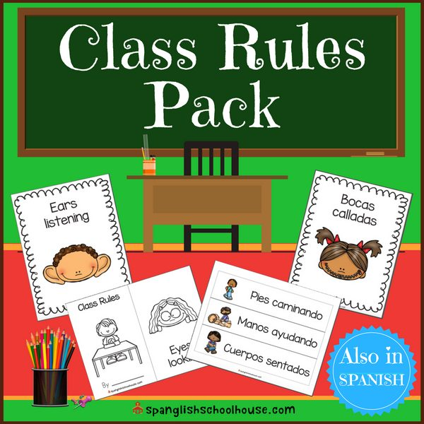 Reglas de la clase - Editable Class Rules in Spanish