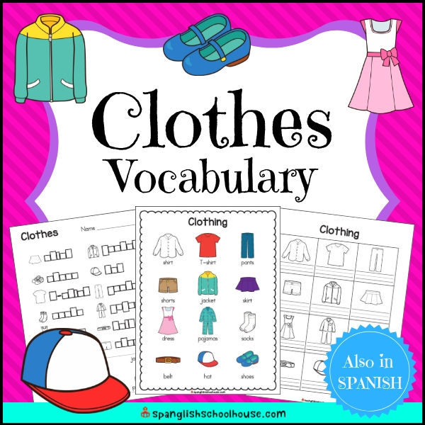 English Clothes Vocabulary