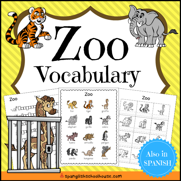 Zoo Vocabulary is perfect for ESL and ELL students