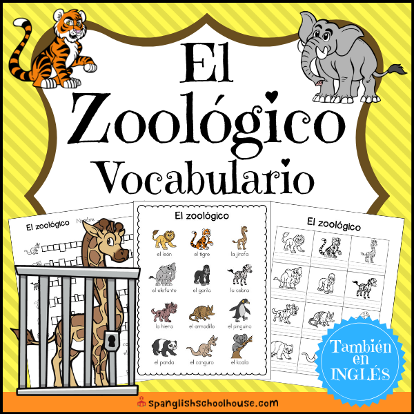 El Zoologico is great for teaching Spanish Zoo Vocabulary in your Dual language classroom