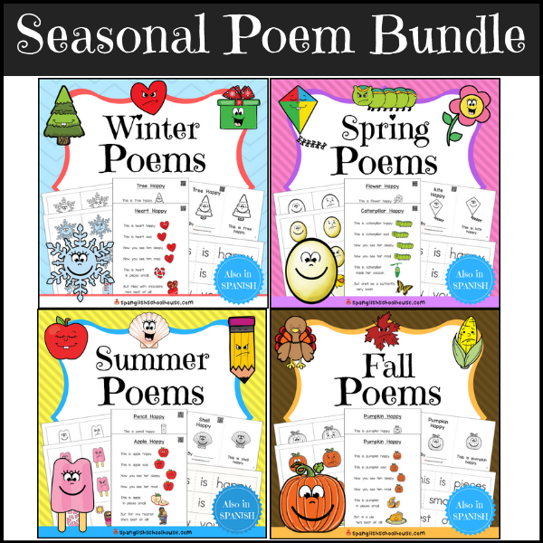 This seasonal poem bundle includes 15 Happy poems perfect for shared reading all year.
