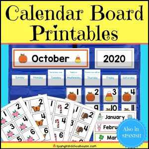 Calendar Board printables have everything you need to set up your Preschool Calendar Time!