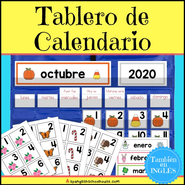 These Spanish Calendar Board printables have everything you need to set up your Spanish Preschool Calendar Time!