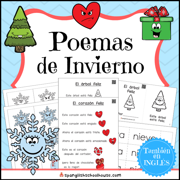 Interactive winter poems in Spanish
