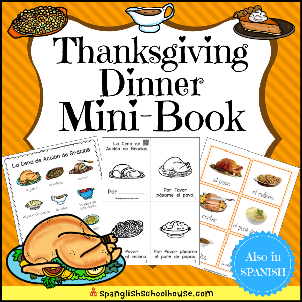 Thanksgiving Dinner Mini-Book pack has is perfect for teaching Thanksgiving Dinner vocabulary.