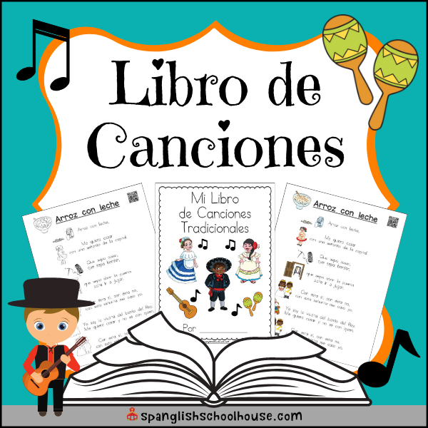 A printable book of traditional Spanish songs your children will love! Comes with interactive QR codes so they can hear the song and sing along.